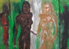 Lucius Pax : Medium Sized Painting 2004 2 : Torres Daxler : oil on linen : 150 x 100 cm : untitled