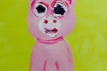 Lucius Pax : Small Painting 2016 74 : Comic Relief 1 : acrylic on paper : 37 x 42,5 cm : untitled