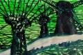 Lucius Pax : Small Painting 2018 80 : Artificial Life : acrylic on paper : 100 x 65 cm : title : De knotwilg en de molen