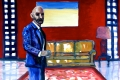"""Lucius Pax : Small Painting 2012 14 : Torres Daxler 14 : pencil & gouache on paper : 65 x 50 cm : title : Torres Daxler: """"Hatte ihr Mann Feinde?"""" Frau Müller: """"Nein, nicht das ich weiß."""""""