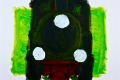 Lucius Pax : Small Painting 2003 2 : Train 2 : acrylic on paper : 70 x 50 cm : untitled