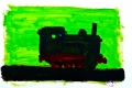 Lucius Pax : Small Painting 2003 4 : Train 4 : acrylic on paper : 70 x 50 cm : untitled