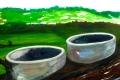 """Lucius Pax : Small Painting 2012 26 : Torres Daxler 27 : pencil & gouache on paper : 65 x 50 cm : title : Torres Daxler: """"Was sind das denn?"""" Hänschen: """"Das sind die zwei Überlauftürme von Fischbeck."""" Torres Daxler: """"Das ist ja interessant."""""""